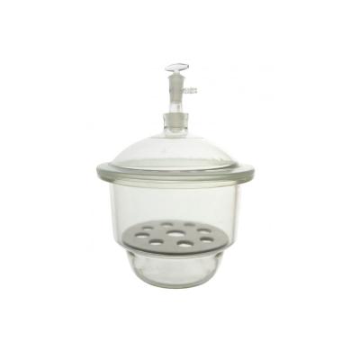 Desecador para Vacío con Placa de Porcelana y Válvula 240 mm