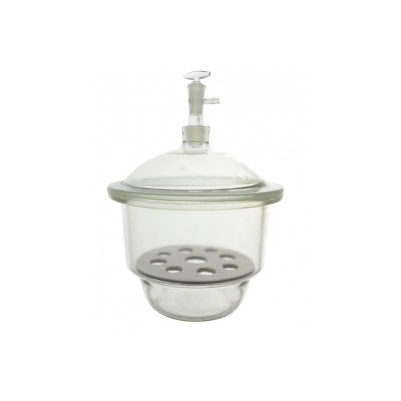 Desecador para Vacío con Placa de Porcelana y Válvula 180 mm